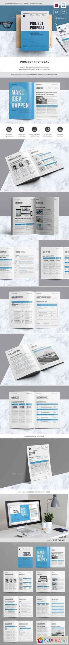 Proposal Proposal templates, Adobe indesign and Letter size - microsoft word proposal template free download