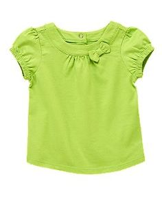 bow puff sleeve top  crazy 8