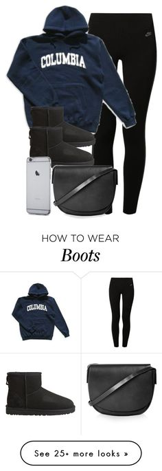 """Style #9586"" by vany-alvarado on Polyvore featuring NIKE, Columbia, UGG Australia and Topshop"