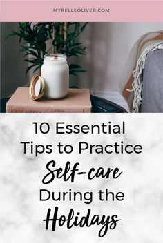 It's time to be kind to yourself during the holidays and find out 10 essential self-care tips to practice for this season. Stress Relief Quotes, Self Improvement Quotes, Health Practices, Holiday Stress, 10 Essentials, Take Care Of Your Body, Relaxation Techniques, Dealing With Stress, Tips