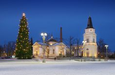 The Old Church (Vanha kirkko) on the edge of the Tampere Central Square. Cities In Finland, Finland Travel, Lappland, Beautiful Winter Pictures, Ice Pictures, Grave Monuments, Big Town, Examples Of Art, Most Beautiful Cities
