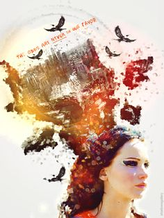 #KatnissEverdeen, the girl on fire.