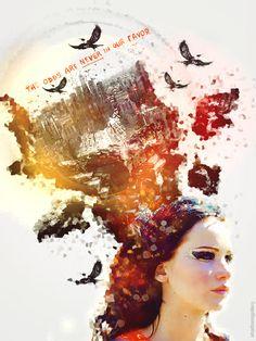 #KatnissEverdeen, the girl on fire.