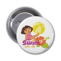Dora The Explorer - Swim With Me Pinback Button