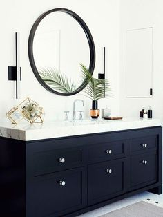Black Bathroom Vanity With Marble Top | Archdigest.com