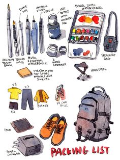 Packing for Bandung, Indonesia Sketching Trip Parka Blogs