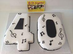 40th musical cake