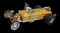 Drag-U-La Brought to life by George Barris for the classic TV show, the MUNSTER DRAG-U-LA® is a lesser known vehicle only featured in one TV episode and the Munsters movie. This 1:18 replica is complete with casket, organ-pipe exhaust, and wide drag slicks.