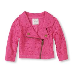 The Childrens Place - Rev up her look with this classic motorcycle silhouette in an ultra-soft knit! Baby Kids Clothes, Toddler Girl Outfits, Pink Motorcycle, Classic Motorcycle, Motorcycle Jacket, Moto Jacket, Leather Jacket, Biker Baby, Baby Dior