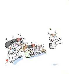 EXO <credits to owner> Baekhyun Fanart, Kpop Fanart, Kyungsoo, Chanyeol, Exo For Life, Exo Anime, Fan Drawing, Exo Fan Art, Drawing Wallpaper
