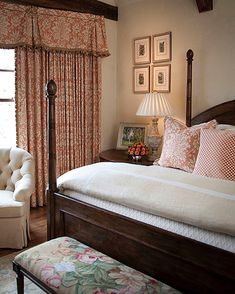 """222 Likes, 16 Comments - Beth~Interior Designer (@traditionalsouthernstyle) on Instagram: """"Since I was a girl, I always chose peachy~pinks and corals for my bedroom. I also loved antiques…"""""""