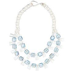 Catherine Canino Swarovski Crystal & Chunky Chain Statement Necklace – Favery