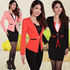 New 2014 Spring Autumn Women Suits with Skirt and Coat for Ladies Business Suits Workwear Sets Female Office Work Uniform Slim US $48.40