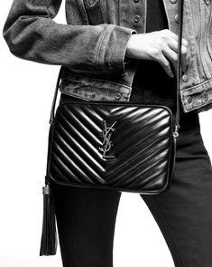LOU camera bag in quilted leather | Saint Laurent United States | YSL.com Ysl Bag, Chanel Boy Bag, Leather Tassel, Quilted Leather, Yves Saint Laurent, Saint Laurent Handbags, Leather Camera Bag, Leather Bag, Leather