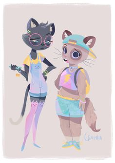My piece for Qpop's Feline/Canine charity show tonight!! Go check it out!