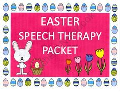 Easter Speech Therapy Interactive Language and Articulation Packet product from Speech Time on TeachersNotebook.com