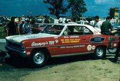 Bill Jenkins 66 Chevy II Ran in the low Car Memes, Car Humor, Nhra Drag Racing, Auto Racing, Chevy Nova, Vintage Race Car, Drag Cars, American Muscle Cars, Rat Rods