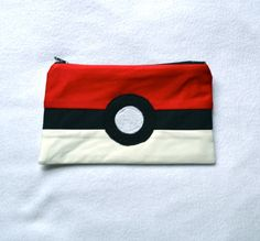 Pokeball Zipper Pouch/Pencil Case by TheRobotique on Etsy, $12.00