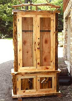 Charmant Gun Cabinet.Or Fit It With Shelves And Have A Rustic Display Cabinet.