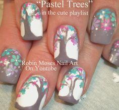 """owl design"" ""pastel trees"" ""owl nail art"" ""pastel tree nail art"" ""tree of life"" ""spring nail design"" ""spring design"" ""spring nail art"" ""cute owls"" ""pastel trees"" ""pastel nail art"" owls trees spring pastel trendy polished cute fun Mint Nail Art, Owl Nail Art, Tree Nail Art, Mint Nails, Tree Nails, Chevron Nails, Floral Nail Art, Owl Nails, Pastel Nails"
