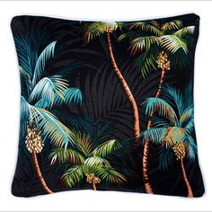 Larger sizes Two Punalu'u Tropical Cushion Cover by islandinspiredhome on Etsy
