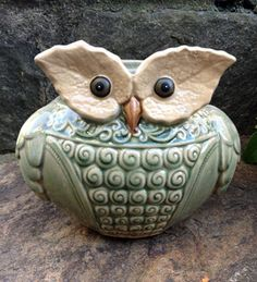 Owl Ceramic Planter - Outdoor Living Planters & Vases Winterthur Store