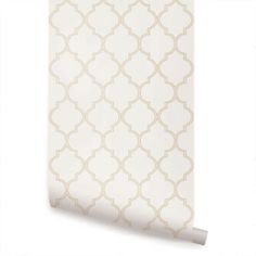 Moroccan Beige Peel  Stick Fabric Wallpaper Repositionable, $35/sheet Etsy
