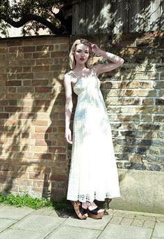 Vintage 70s lace maxi dress from Mint Vintage £45