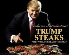 Top 10 Bizarre Celebrity Endorsed Products - Donald Trump Steaks