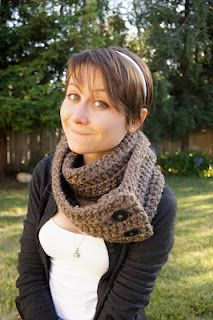 Summer won't last forever! Learn to crochet a really quick and easy button on infinity scarf with this free simple pattern!