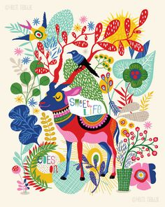 Sweet Life... limited edition giclee print of an by helendardik