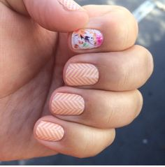 Just Peachy with Sunday Brunch accent.  http://jillr.jamberrynails.net/  ‪#‎nails‬ ‪#‎nailart‬ ‪#‎naildesign‬ ‪#‎style‬ ‪#‎fashion‬