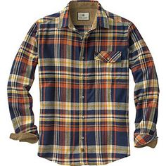 Legendary Whitetails Men's Plaid Buck Camp Flannels, Size: X-Large Tall, Multi Plaid Shirt Outfits, Casual Shirts, Best Mens Flannel Shirts, Plaid Shirts, Country Shirts, Mens Fall, Check Shirt, Shirt Style, Men Casual