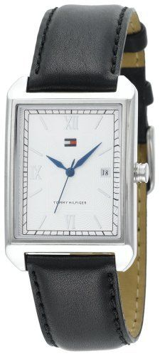 Tommy Hilfiger Men's 1710091 Silver Dial Black Leather Strap Watch Tommy Hilfiger. $77.95. Save 18%!
