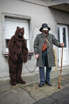 Man & Bear.   I would actually give money if someone did this instead haha!!