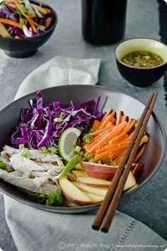 Asian chicken & cabbage salad