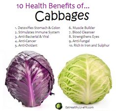 10 Health Benefits of Cabbage #vegetables #superfoods