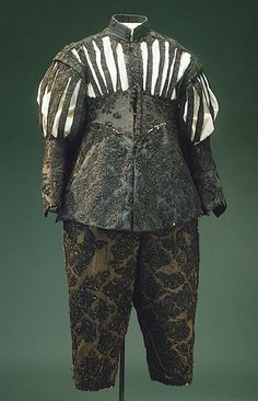 """The original pin said """"Ensemble, c. 1630, belonging to Gustav I Vasa of Sweden"""", which is impossible since Gustav I died in 1560 and was very unlikely to be having clothes made 70 years later. It's from the Royal Armoury and labelled """"shirt for a Burgundian suit. Called *Gustav Vasa's suit'"""". But the date given is 1630s so it seems the name derives from some earlier mislabelling.   INVENTORY NUMBER 25560 (3335:a)"""