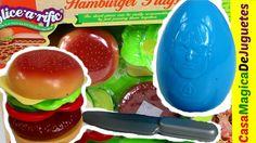 Amburguesa Pegable y Cortable con Huevo Sorpresa de Capitan America + Sh...