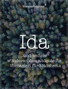 Dir gefällt der Name Ida? Hier findest Du tolle altdeutsche Vornamen für Jungen und Mädchen. #altdeutschenamen #altedeutschenamen #mädchenname #jungenname #vorname