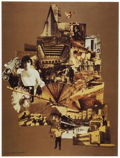 collage/space -Marianne Brandt, Our Unnerving City, 1926 - I love the interest created by asymmetrical, monochromatic collage surrounded by rectangular negative space!
