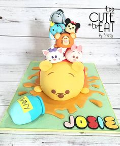 Tsum Tsum Cake - Winnie the Pooh, Eeyore, Minnie Mouse, Dumbo, Tigger, Pigglet, Marie