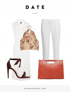 Add a flounce crop top to linen pants for a date-appropriate look.