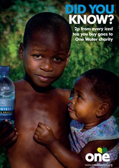 Did you know that 2p from the sale of every drink goes to the One Water Foundation, helping to fund water projects in Africa.