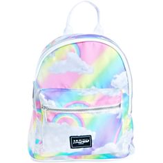 Designer Clothes, Shoes & Bags for Women Mini Backpack, Backpack Bags, Fashion Backpack, White Backpack, Fashion Bags, Women's Fashion, Rainbow Bag, Rainbow Cloud, Mini Mochila
