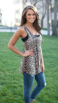 The Pink Lily Boutique - She's a Wild One Tank , $30.00 (http://thepinklilyboutique.com/shes-a-wild-one-tank/)