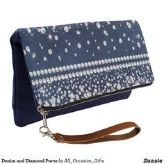 Shop Cute Denim and Diamond Purse created by All_Occasion_Gifts. Denim Background, Diamond Shoes, Diamond Party, Denim And Diamonds, Purses, Cute, Parents, Leather, Auction