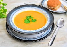 Slimming World Syn Free Carrot & Coriander Soup Maker Recipe - Tastefully Vikkie - Reich Carrot And Corriander Soup, Coriander Soup, Carrot And Coriander, Carrot Soup, Healthy Meals For Two, Healthy Foods To Eat, Healthy Dinner Recipes, Diet Recipes, Cooking Recipes