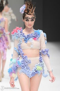 by Lauren Slaviero, RMIT graduate runway, Melbourne Spring Fashion Week, Sept 2012