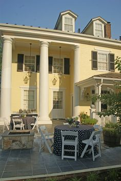 The Inn at Willow Grove blends the timeless elegance with colonial charm. Book your stay at our beautifully restored resort in Virginia today! Luxury Inn, Slate Patio, Willow Grove, The Slate, Timeless Elegance, Georgian, French Doors, Colonial, Virginia